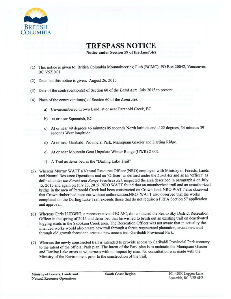 Trespass Notice pt. 1